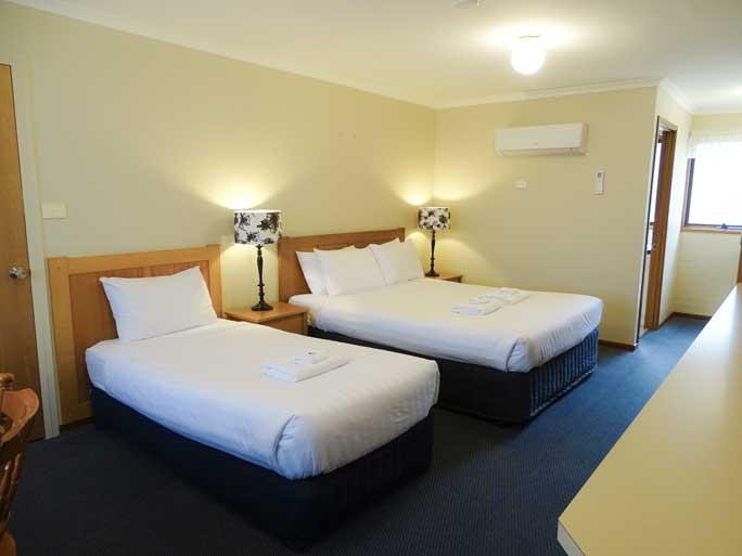 Deluxe Twin motel room accommodates 2 - 3 people